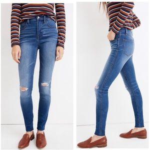"""Madewell 10"""" roadtripper distressed raw hem jeans"""
